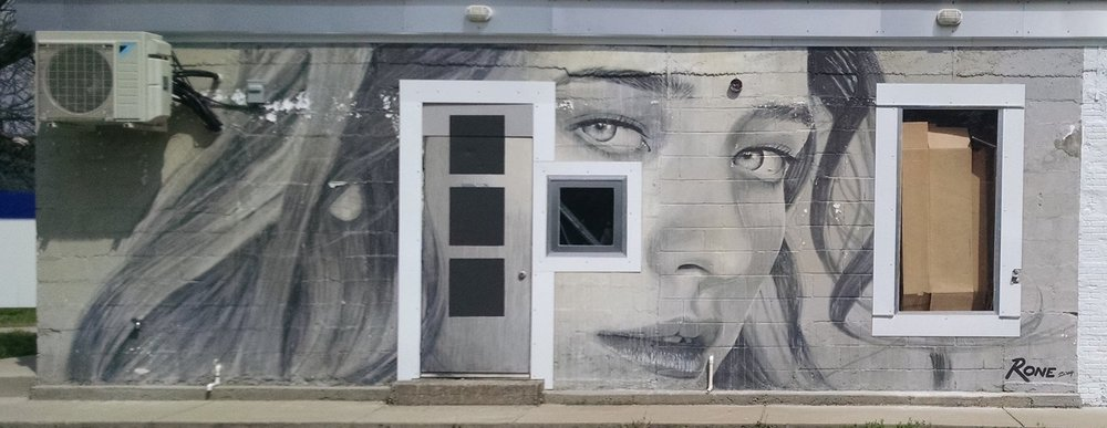 Mural by  RONE . Painted 2014.  See this piece freshly painted in his digital collection  HERE .