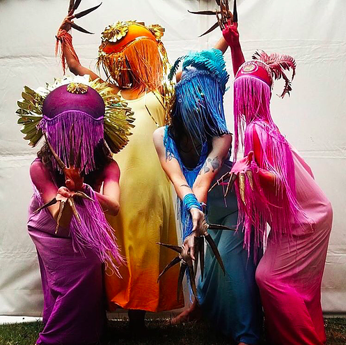 Shotgun created a walkabout group of Tropical Godesses of the Blessed Other for the Lovebox VIP area.