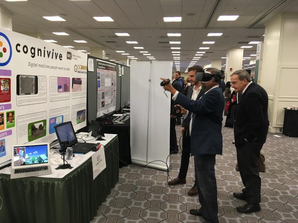 UC Davis Vice Chancellor Dushyant Pathak tries his hand at our latest prototype