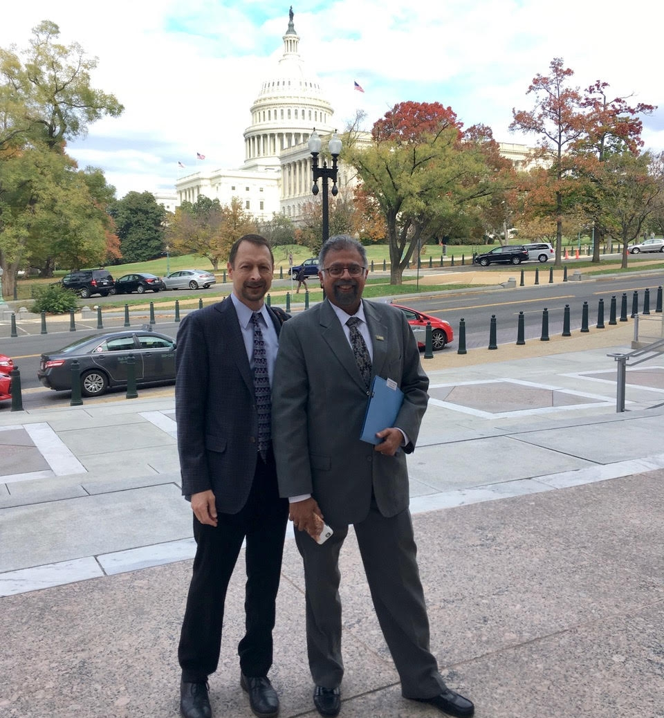 Tony and Dushyant outside the Rayburn Building