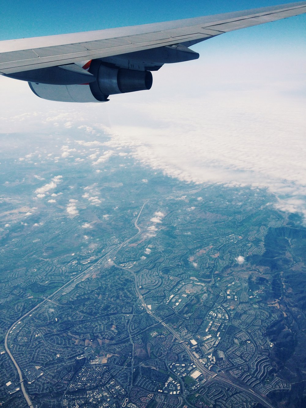 If you fly LAX-->NYC, make sure you get a window seat on the right. The view is spectacular