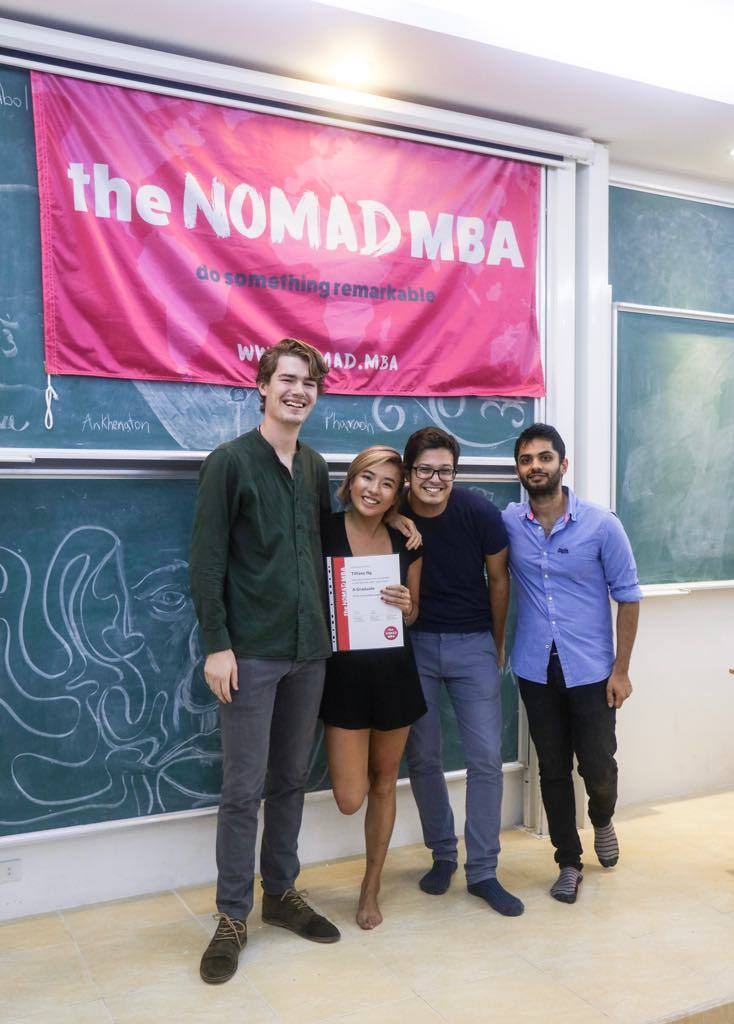 Graduated - with the founders of  the Nomad MBA