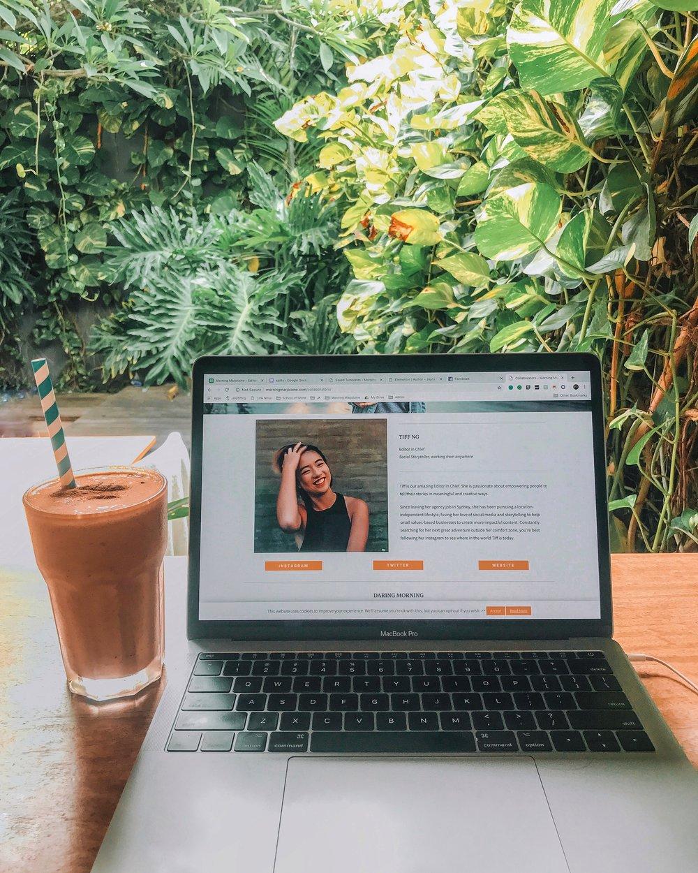 My office setup at  Dojo Bali .