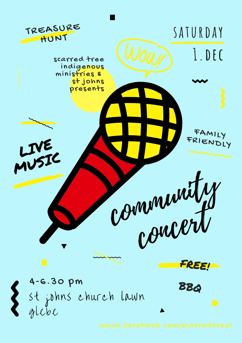 Events St Johns Byo Concert Small In Sand Scarred Tree Presents A Community Christmas