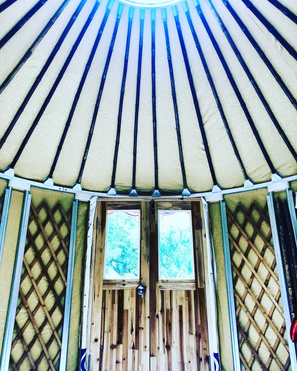 Yurt. Yoga. Relaxation. Meditation. Massage. Stretching. Self-Care, Self-Awareness...