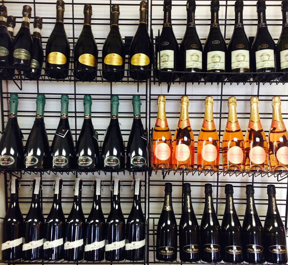 A portion of Guidi's wine selection.