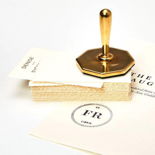Cast Bronze Octagonal Rubber Stamp