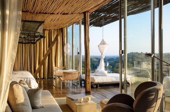The breathtaking views and luxury accommodations at  Singita Lebombo Lodge