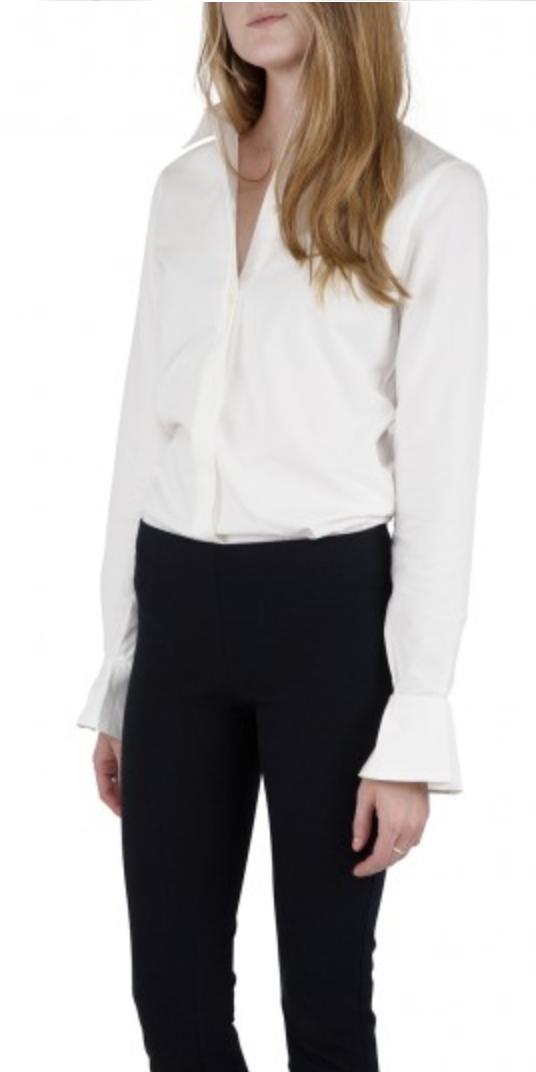 Ann Mashburn Bell-Cuff Icon Shirt - Cotton