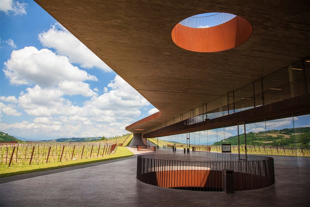 Modern, sculptural architecture amidst Antinori's vast vineyard.  Photo:  Lonely Planet