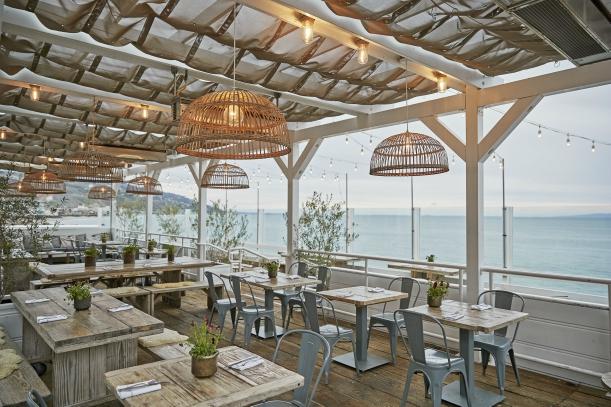 Oceanside al fresco dining at Malibu Farm.