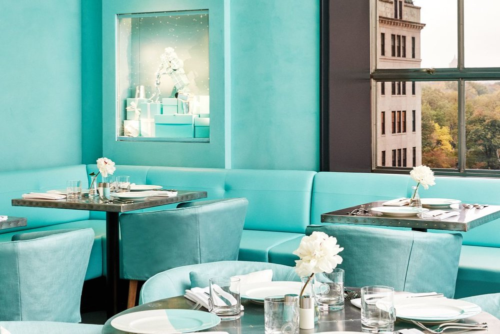 Breakfast at Tiffany's, in real life at the iconic  Blue Box Café .