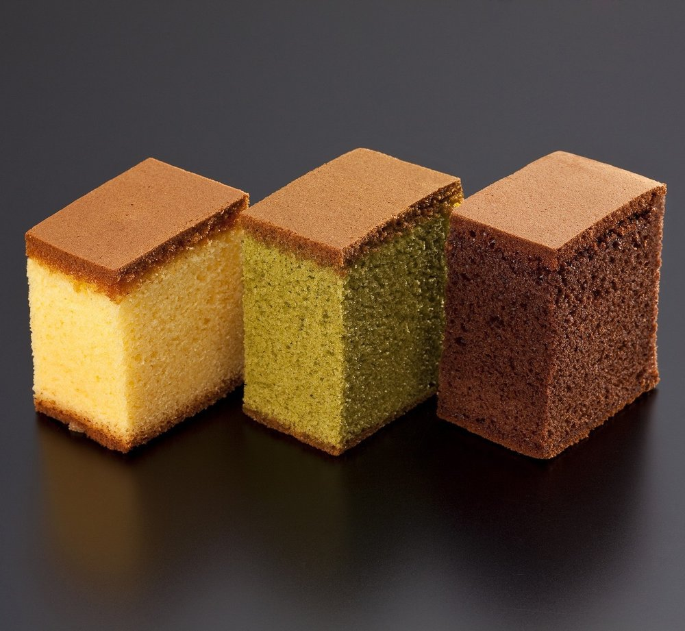 Chocolate Kasutera; Soft and fluffy baked kasutera (Japanese sponge cake) made with sweet rice.