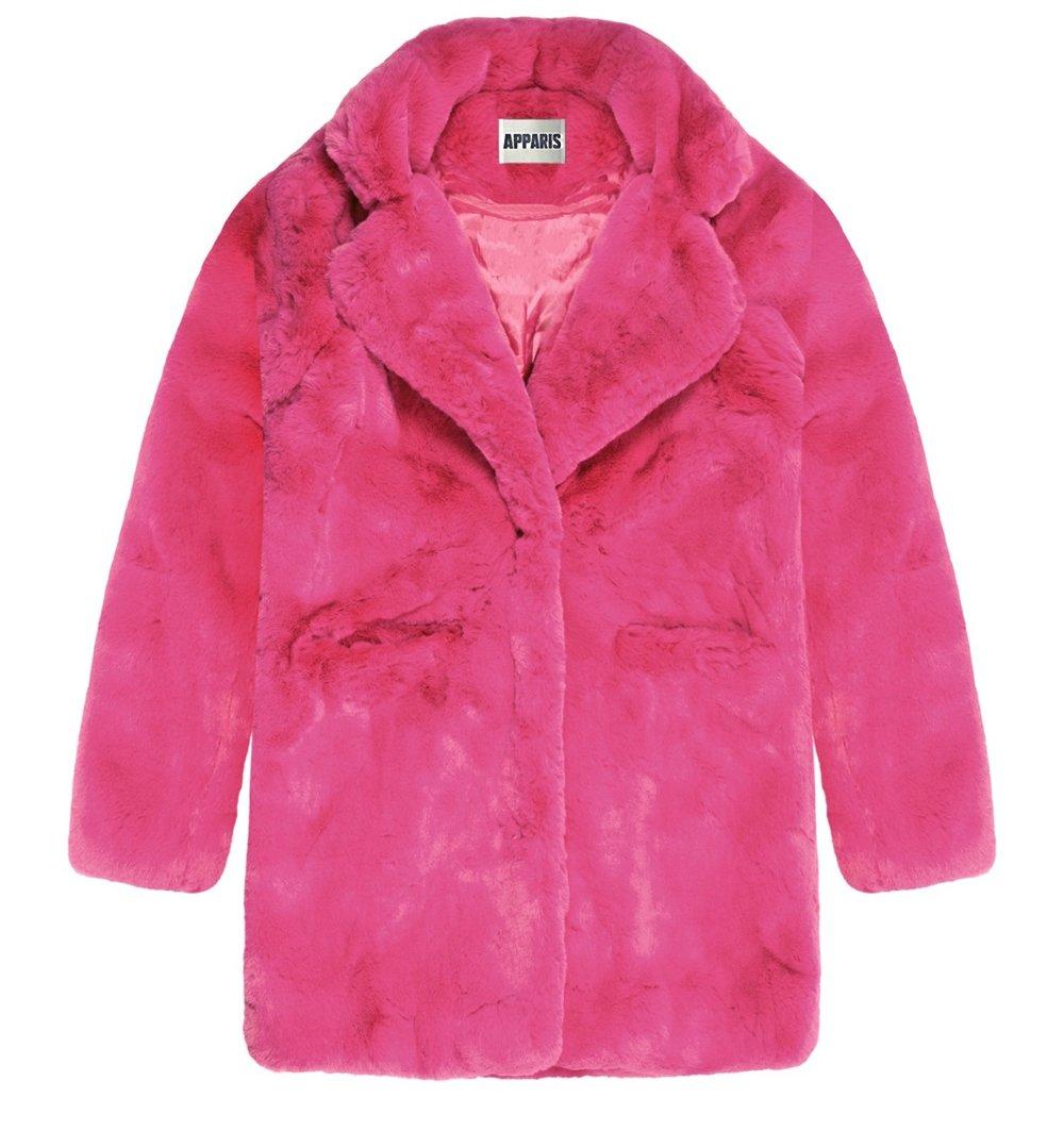 Sophie Fuchsia Faux Fur Coat