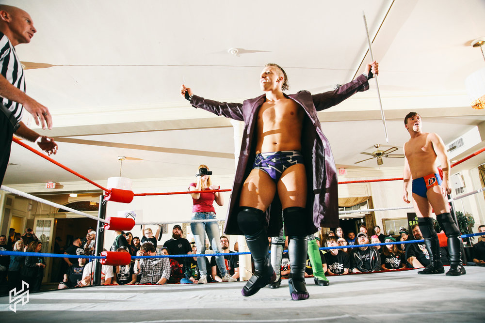 Ace Austin wins theSix Man Scramble -