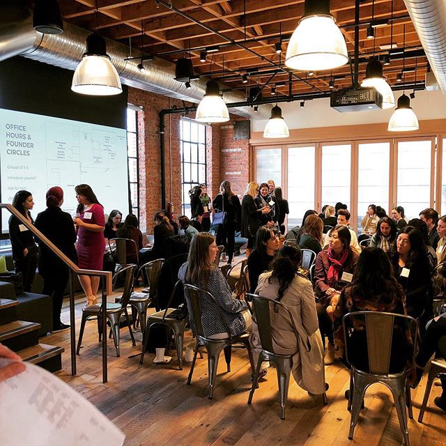 Female founders forming support circles