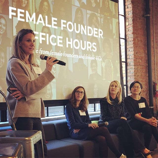 Growth stage fundraising stories at Female Founder Office Hours with Mathilde Collin of Front, Julia Hartz of Eventbrite and Sarah Nahm of Lever.