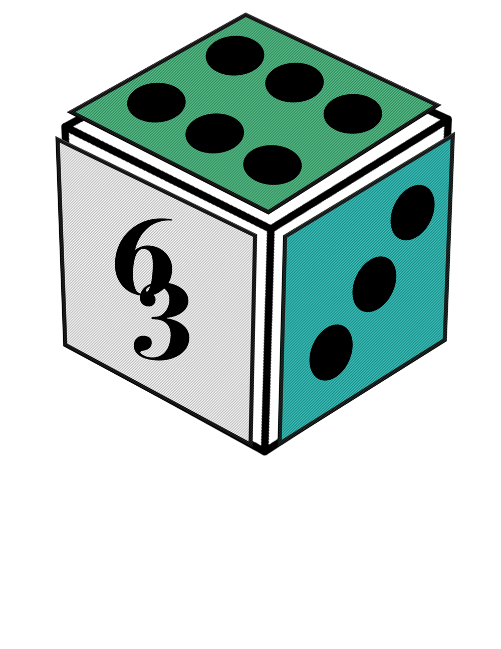 J448 Campaigns Logo - Our team is composed of 6 members, with 3 main core values. My role as the designer was to create a dice that represents our agency, Sixty-Three.