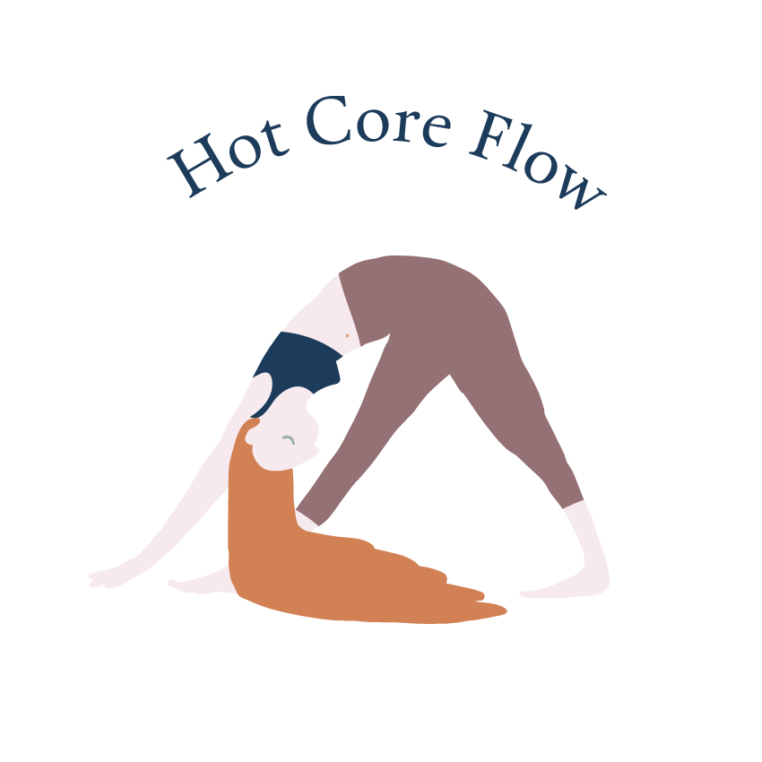 Duration:  60 minutes  Experience Level:  All (including beginners)   Hot Core Flow  has up to 50 classic Hatha postures so each sequencing is different. Variety, freedom and flow! In your 60 minutes you will begin with a warm up and then progress to a dynamic flow, balancing poses, deep static hip openers and a few floor based grounding asanas ending off with a heartfelt shavasana. Be prepared to strengthen your core, build upper body strength and challenge your hot experience with options and variations to deepen your practice leaving you in a complete state of bliss to the music of your soul.