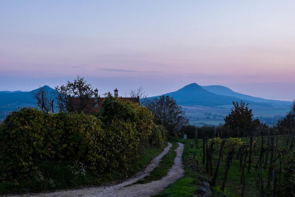 Sunset from Csobánc, Badascony, Hungary |  ©John Szabo (published by Jacqui Small)
