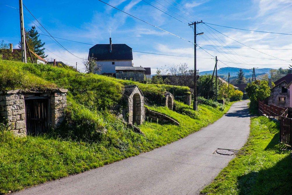 Some of the hundreds of cellar entrances, Erdöbénye, Tokaj |  ©John Szabo (published by Jacqui Small)