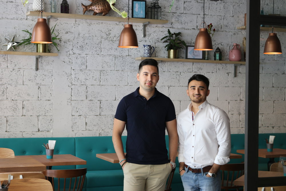 Davron Hamidov & Zee Alikhonov, co-founders and co-owners of Arrows & Sparrows Cafe, Friends' Avenue Cafe, Dubai
