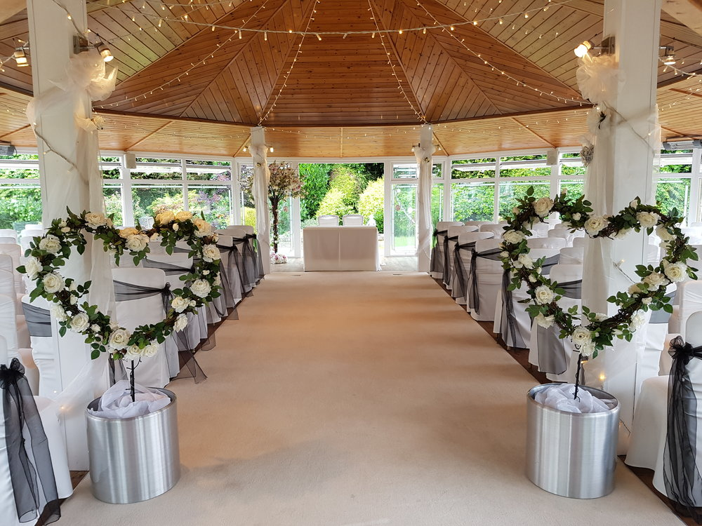Rose Hearts £75.00 (within 10 miles of W-s-M)    Rose Hearts will set your entrance just beautify. Available to hire for 24 hours with your Love Letters, thy can also be moved after the ceremony into your reception room.
