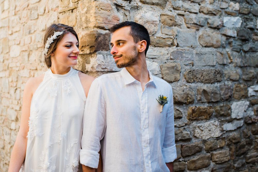 Silvia e Mattia, gli sposi