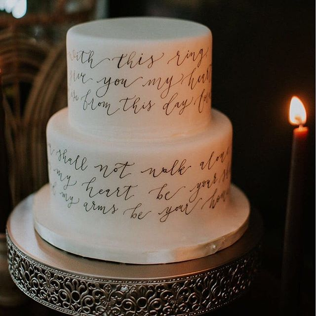 What about vows on the cake? 😍 I'm on love with this precious idea! #lepetito . . . #Repost @whiteinkdesignco