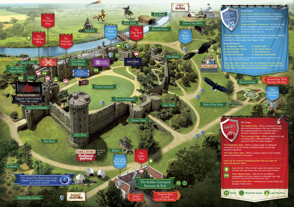 Warwick Castle Map Warwick Castle Map | Color 2018