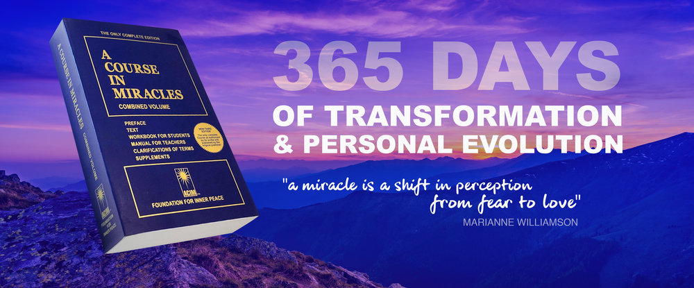 A Course in Miracles Study Course - 365 Days of group study of the seminal tome 'A Course in Miracles'A dedicated Facebook Group with daily lives to guide you through each daily lesson. Group Q&Q session and the option for personal support. FOR MORE INFORMATION HERE