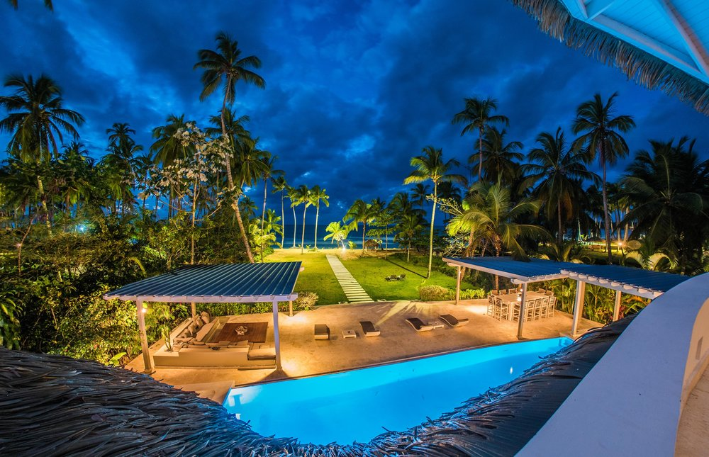 Las Terrenas Villa Ocean Lodge pool night.jpg