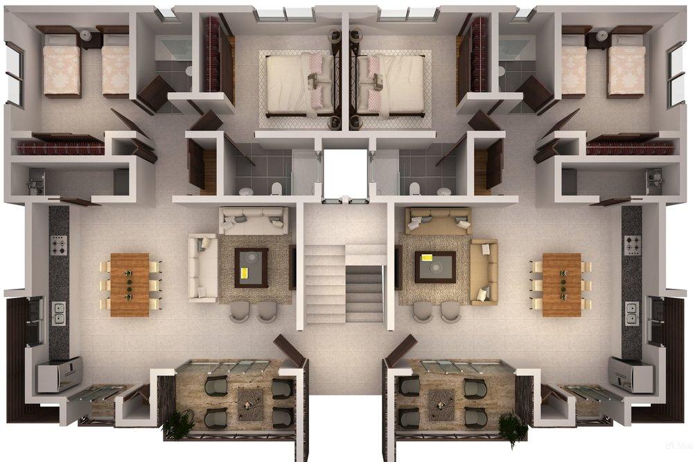 Planta Bloque 1 apartments for sale las terrenas Saman Lista.jpg