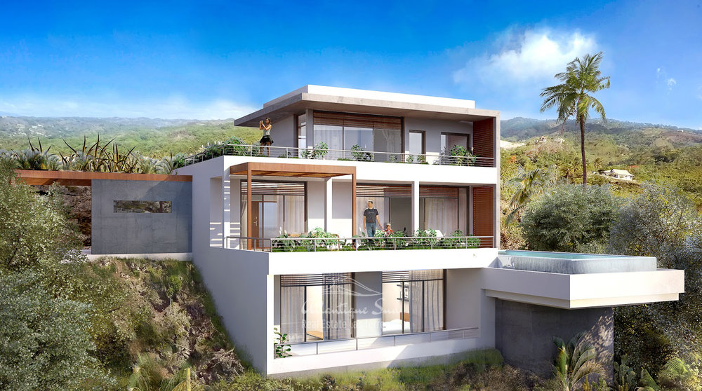 Ecofriendly Villas under development on a hillside with amazing ocean views in Las Terrenas Real Estate Dominican Republic9.jpg