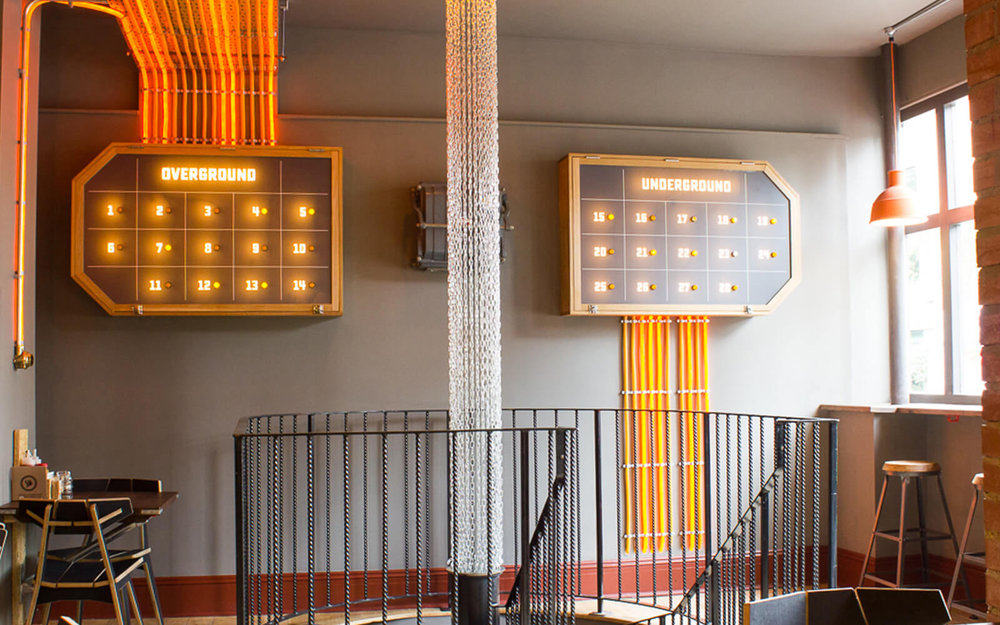 More of our work in the SmokeWorks restaurant in Cambridge.