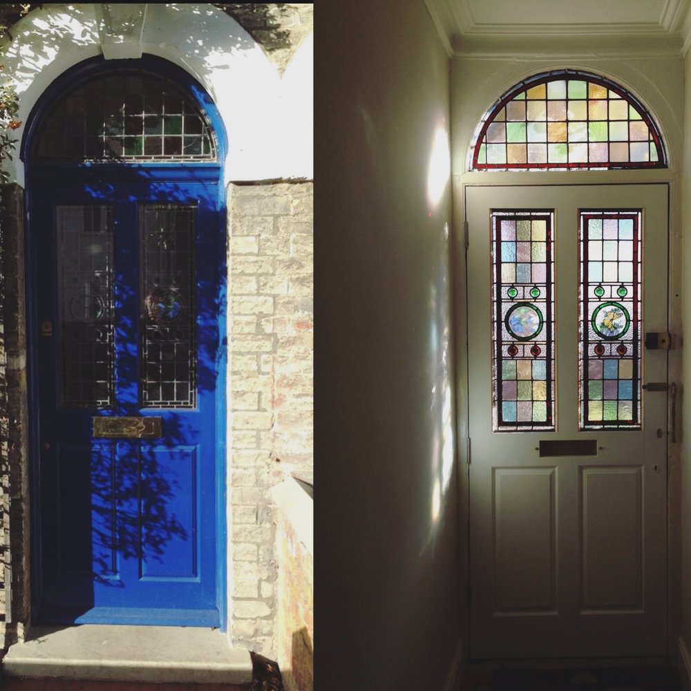 The new front door we created for a customer who wanted more light in their hallway. The existing door was unglazed, so we matched the glass design in the curved fan light above and incorporated it into the door.