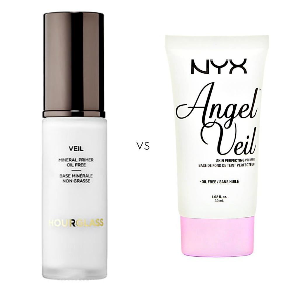 Left: Hourglass Mineral Veil Primer, $54 sephora.com         Right: NYX Angel Veil Primer, $15.99 ulta,com