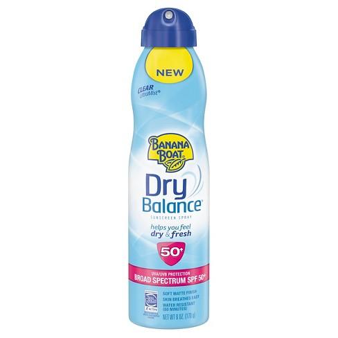 Banana Boat Dry Balance Spray SPF50, $4.69 target.com