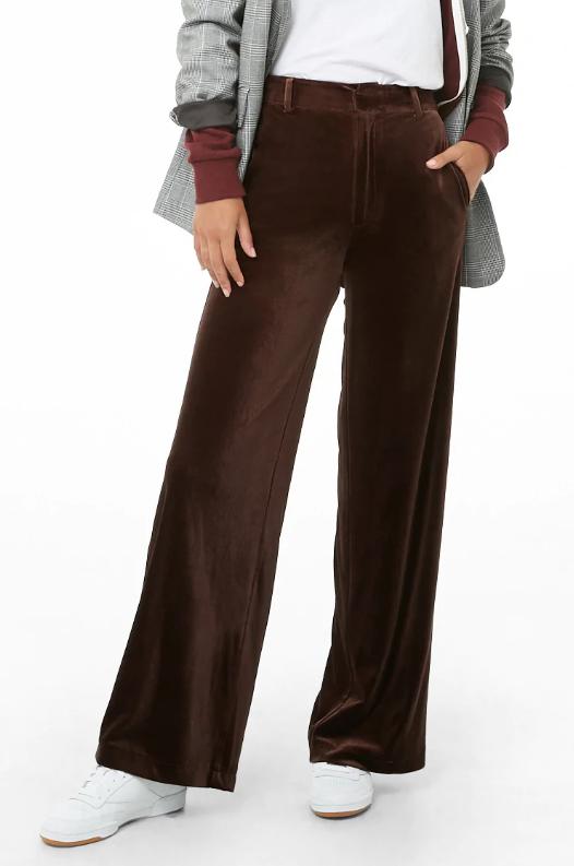 Forever 21 Wide Leg Velvet Pants, $22.90