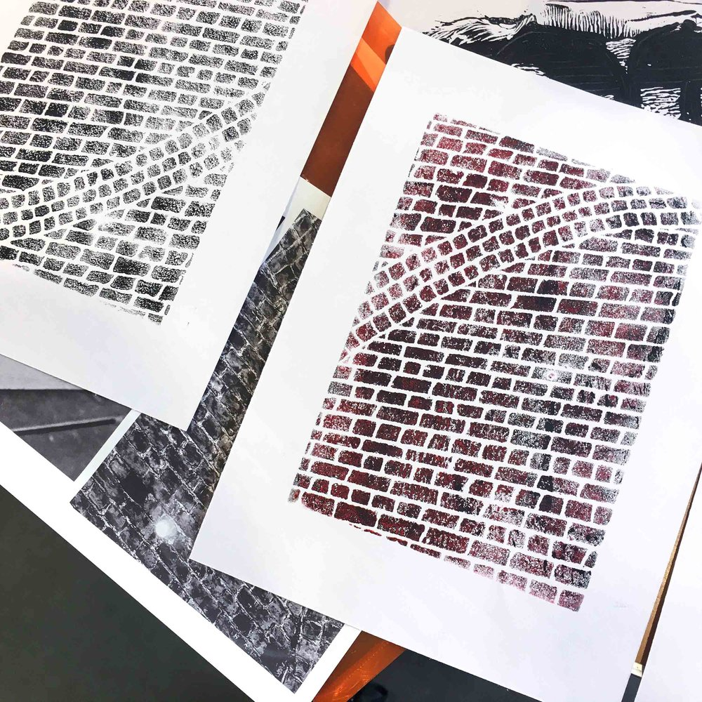 Walking, photography & trace monoprinting