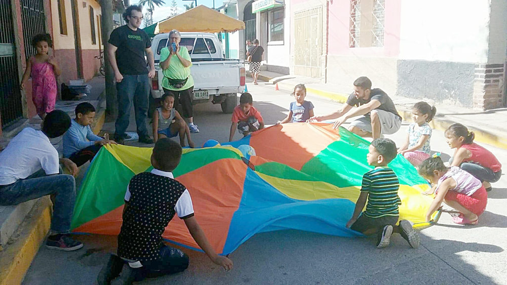 This was during one of the medical clinics we did in a town called La Villa de San Antonio. The children who were waiting to be seen by our doctors got to do some fun and active games with me in the meantime.