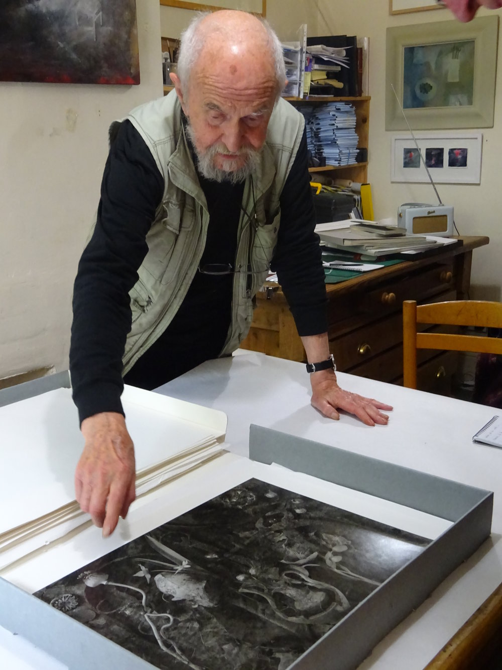 John Blakemore in his studio