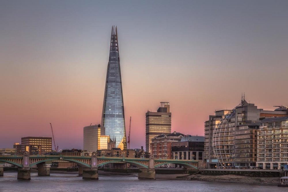 Sunset on the Shard
