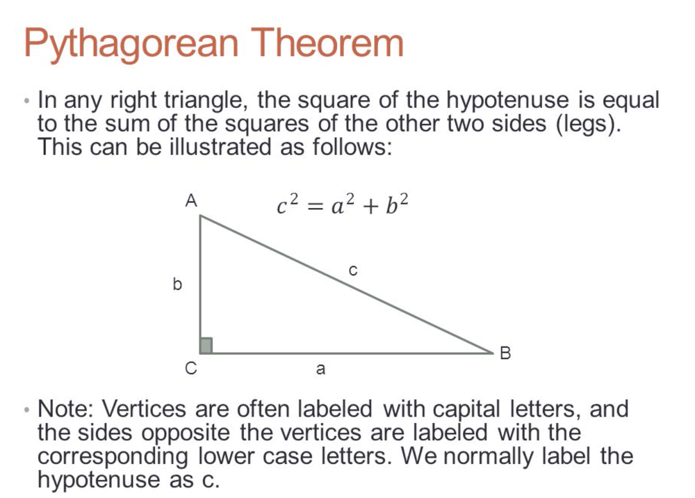 Students can solve theorems and work out equations related to triangles.