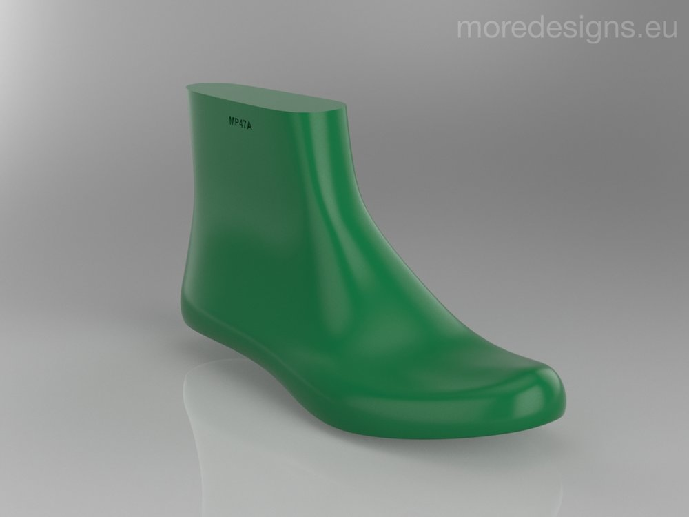 3D model retrieved from:https://grabcad.com/library/shoe-last-mp47a-1