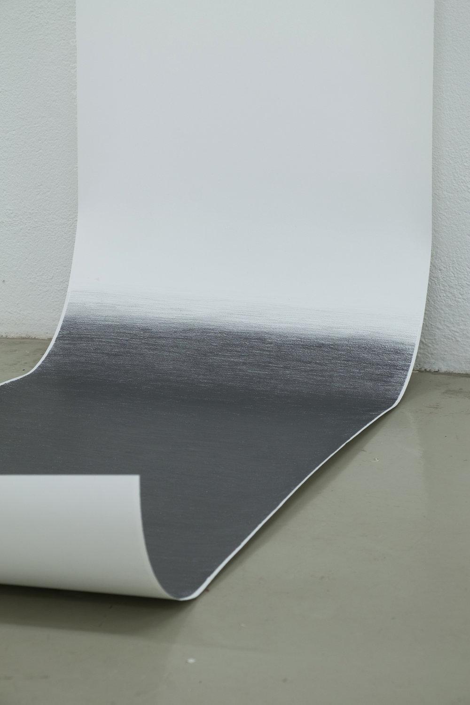 Án titils, 2016. Grafít og pappír. 40 x 220 cm. Ljósmynd Klængur Gunnarsson