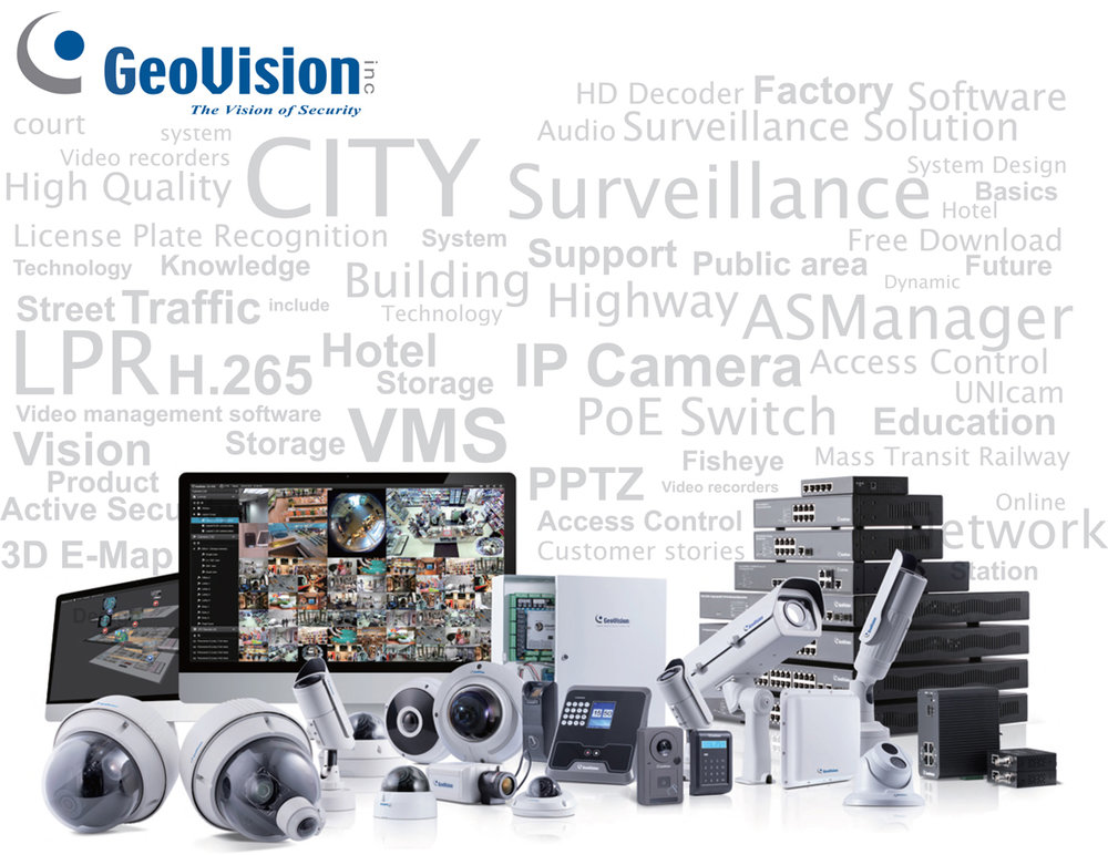 GeoVision camera bundle with security words