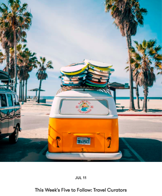 This Week's #5toFollow: Travel