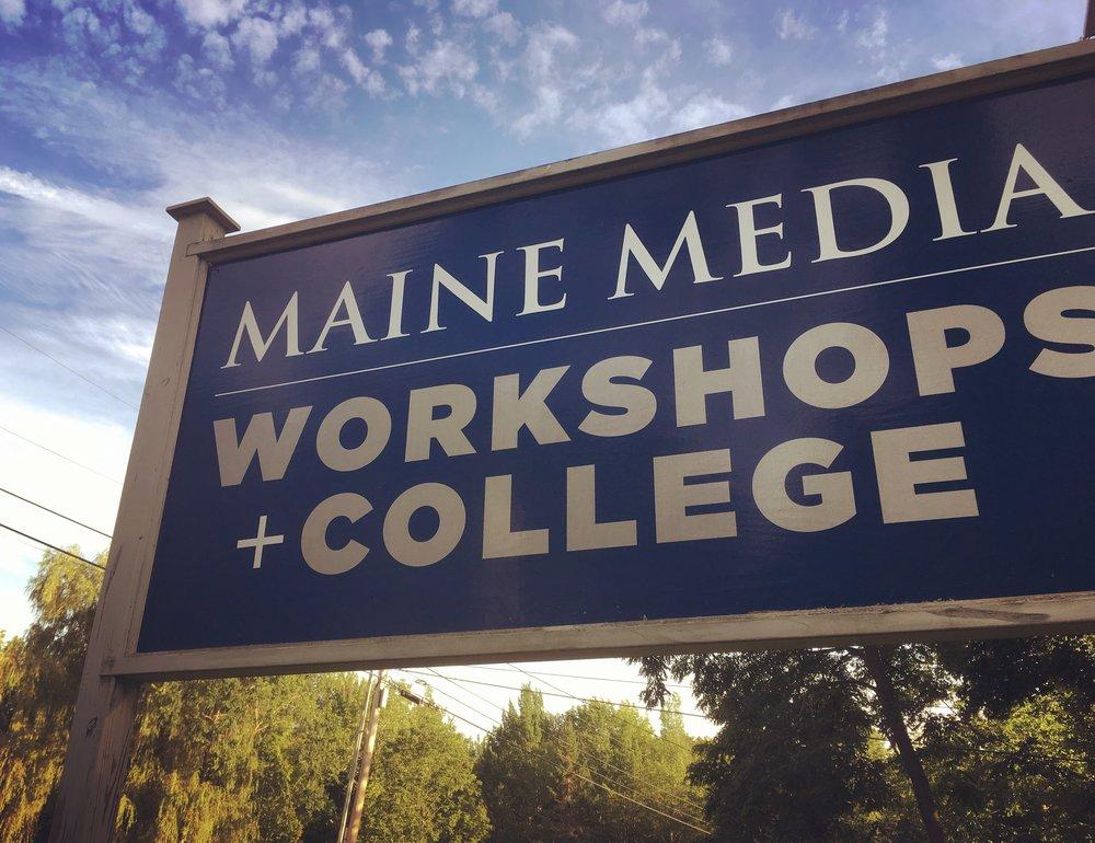 i studied cinematography & visual storytelling at - maine media workshops