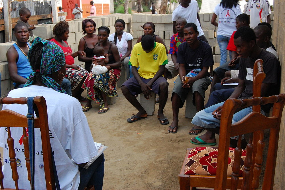 Carefully crafted HIV/AIDS educational outreach session like this one in Angola have done more to lowering its spread than medical interventions.